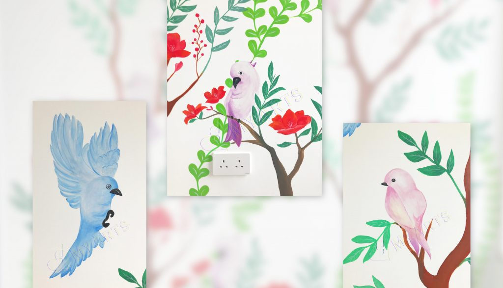 家居壁畫花花